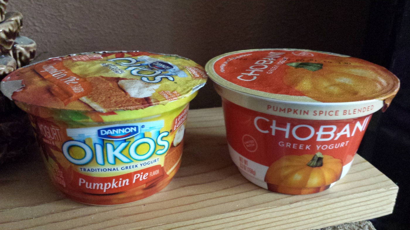 Chobani and Oikos Pumpkin Yogurt